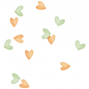 Oh Baby, Baby- Orange & Green Heart Scatter