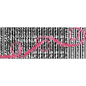 Pink Velvet Ricrac Ribbons Kit- Curly Ricrac Ribbon