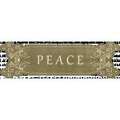 Pond Life- Peace Word Art