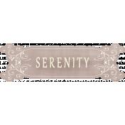 Pond Life- Serenity Word Art