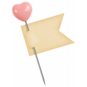Oh Baby, Baby- Pink Heart Pin With Tag