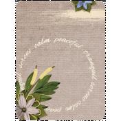 Pond Life- Peaceful Serene Journal Card 3x4