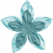 Space Explorer- Blue Light Blue Flower