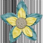 Space Explorer- Blue Yellow Flower