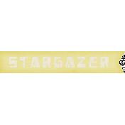 Space Explorer- Star Gazer Label