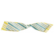 Space Explorer- Striped Knotted Ribbon