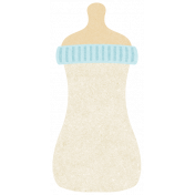 Oh Baby, Baby- Blue Rimmed Bottle Paper Sticker