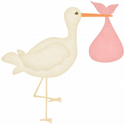Oh Baby, Baby- Stork- Girl Bundle Sticker