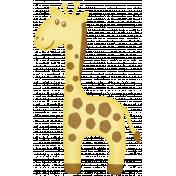 Oh Baby, Baby- Yellow Giraffe Sticker