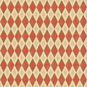 Oh Baby Baby- Red & Tan Argyle Paper