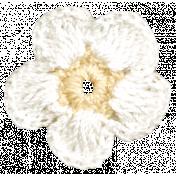 Oh Baby, Baby- White Doily Flower