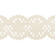 Oh Baby, Baby - White Scalloped Paper Border