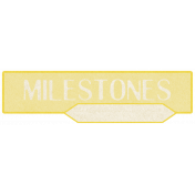 Oh Baby, Baby- Yellow Milestones Label