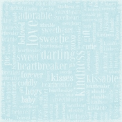 Oh Baby Baby- Words Scramble Paper- Blue