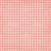 Christmas In July- Gingham Paper- Pink