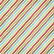 Christmas In July - Striped Paper