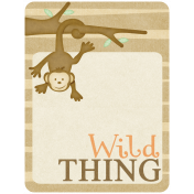Oh Baby, Baby- Brown Wild Thing Journal Card