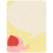 Oh Baby, Baby- Pink Elephant Journal Card