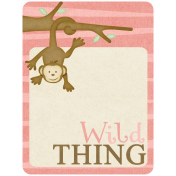 Oh Baby, Baby- Pink Wild Thing Journal Card