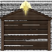 Christmas In July- CB- Manger Sticker