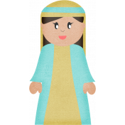 Christmas In July- CB- Mary Sticker