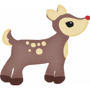 Christmas In July- CB- Reindeer Sticker