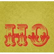 Christmas In July- CB- Word Art- Ho- Green