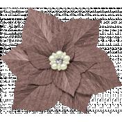 Christmas In July- Brown Flower
