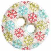 Christmas In July- Snowflake Felt Button