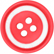 Christmas In July- Red & White Button