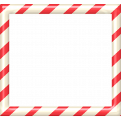 Christmas In July- CB- Peppermint Frame- Red & White