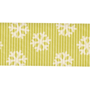 Christmas In July- CB- Green Snowflake Ribbon