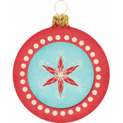 Christmas In July - CB - Round Ornament - Red & Blue