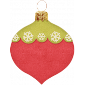 Christmas In July- CB- Red and Green Teardrop Ornament