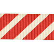 Christmas In July- CB- Red Striped Ribbon