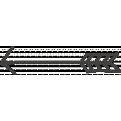 School Fun- Black Chalked Arrow