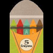 School Fun- Box Of Crayons Sticker