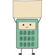 School Fun- Calculator Sticker