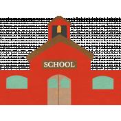 School Fun- Schoolhouse Sticker