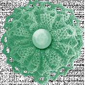 School Fun- Teal Fabric Flower