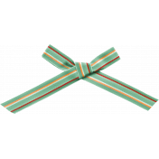School Fun- Teal Striped Bow