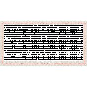School Fun- White Stitched Frame