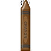 School Fun- Crayon- Brown