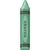 School Fun- Crayon- Teal
