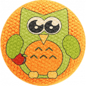 School Fun- Fabric Button- Owl 06