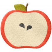 School Fun- Felt Apple