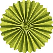 School Fun - Green Accordian Flower