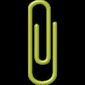 School Fun- Green Paper Clip