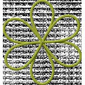School Fun- Green String Flower