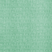 School Fun- Teal Alphabet Paper